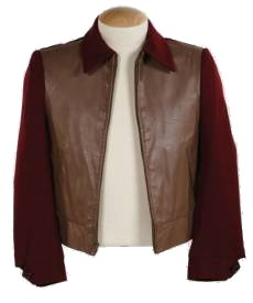 Back To The Future BTTF Marty McFly 50s Maroon Jacket in 1955
