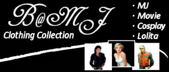 B@MJ.com!, The Top Store for Michael Jackson Clothing, Movie Clothing, Cosplay Costume, Gothic & Lolita Costume Lovers!