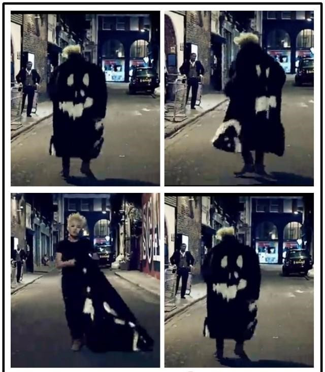 BigBang G Dragon Crooked MV Devil Face Fur Jacket