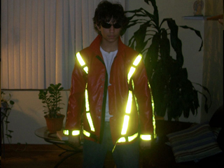 Al Reyes - Our customer in United States wearing our reflective thriller jacket.
