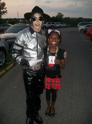 Bobby Miller�- MJ impersonator with our Silver Bad Top and Pants.