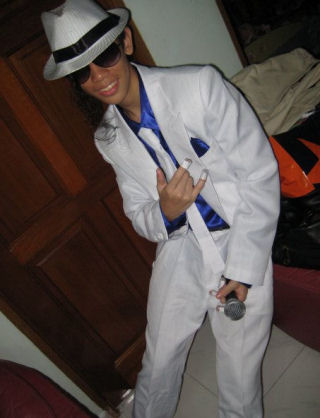 Mr James Lau - One of our customers from Singapore with our Smooth Criminal and Billie Jean outfit.