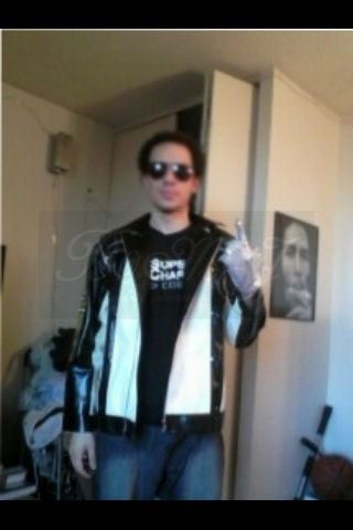 Mr Javier Irizarry - One of our customers and MJ fans with our Pepsi Commerical Jacket.