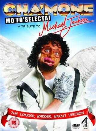 Leigh Francis - Wearing our white thriller jacket and glove in Cha�mone Mo�Fo�Selecta cover.