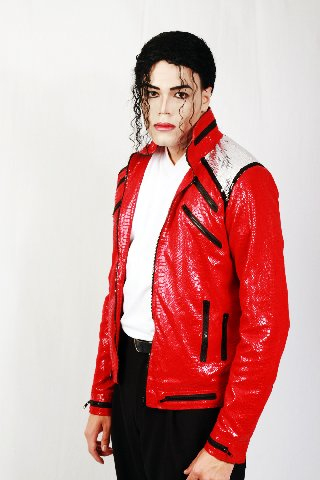 PRICE - Our customer from USA with our beat it red snake jacket.