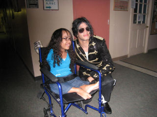 Taylor James - MJ impersonator wearing the walk of fame and victory tour jacket in a show, raised money for the Children's Hospital in Philadelphia