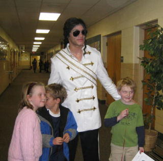 Taylor James - A free donation for the MJ impersonator wearing the walk of fame and victory tour jacket in a show, raised money for the Children's Hospital in Philadelphia