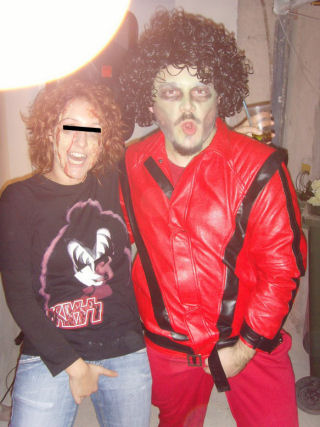 Supermaz - Our customer from Italy with our Thriller jacket.
