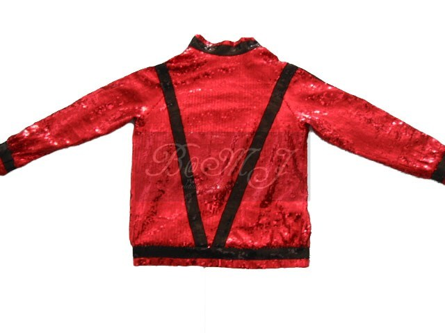 Michael Jackson Thriller Red & Black Sequin Jacket
