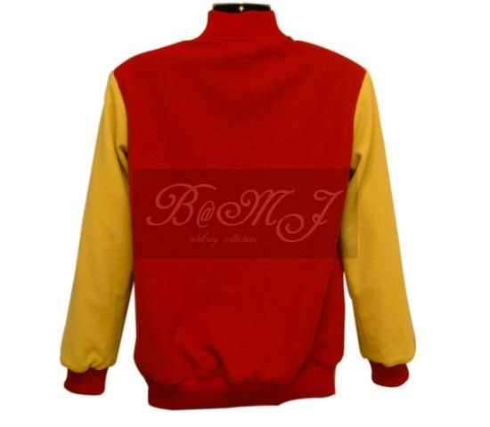 Michael Jackson Thriller Jacket in Red and Yellow Wool